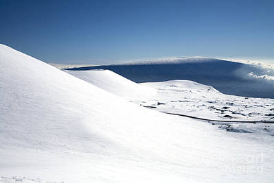 Snowy Mauna Kea Art Print by Peter French - Printscapes