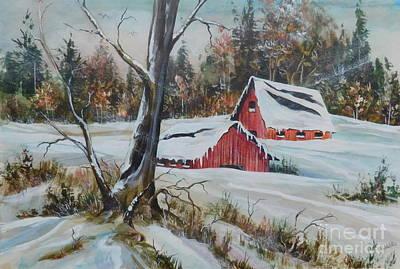 Snowy Memories Art Print