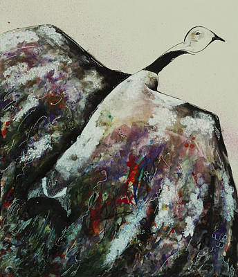 Snow Geese Mixed Media - Snowy Migration by Sonya Bitz