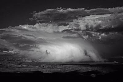 Art Print featuring the photograph Snowy Mix Storm Over The Verde Valley by Ron Chilston