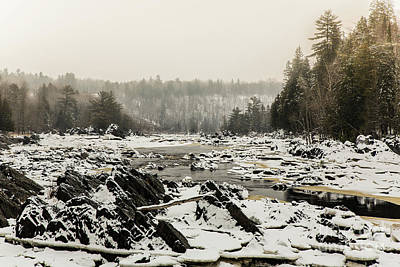 Photograph - Snowy Morning At Jay Cooke by CJ Benson