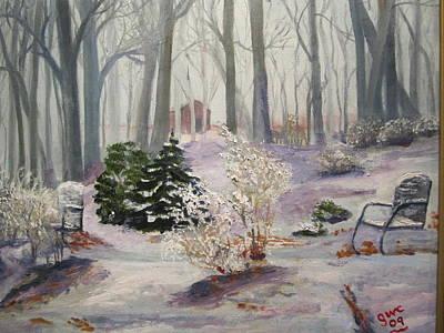 Snowy Morning Art Print by Gloria Condon