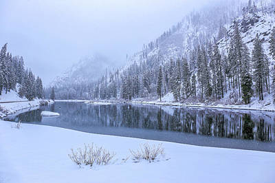 Photograph - Snowy Morning On The Wenatchee River by Lynn Hopwood