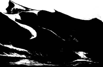 Drawing - Snowy Mountain Abstract by VIVA Anderson