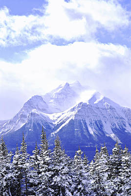 Natural Background Photograph - Snowy Mountain by Elena Elisseeva