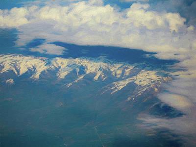 Digital Art - Snowy Mountains Digital Painting by Randy Herring