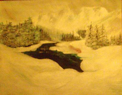 Painting - Snowy Mountains by Helen Vanterpool