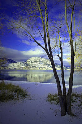 Photograph - Snowy Mountains Reflected In Okanagan Lake by Tara Turner