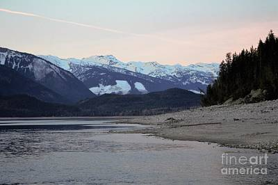 Art Print featuring the photograph Snowy Mountains by Victor K