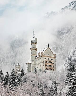 Photograph - Snowy Neuschwanstein by Brian Jannsen