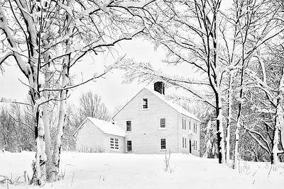 Photograph - Snowy New England Homestead by Betty Denise