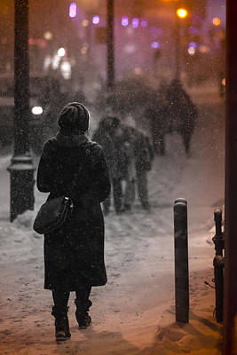 Photograph - Snowy Night by Valerie Rosen