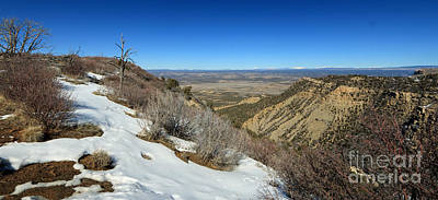 Photograph - Snowy Overlook by Mary Haber