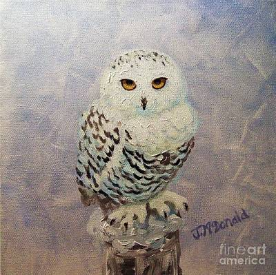 Painting - Snowy Owl by Janet McDonald