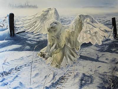 Wall Art - Painting - Snowy Owl by Julian Wheat