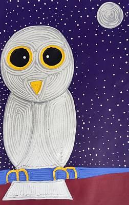 Painting - Snowy Owl by Matthew Brzostoski