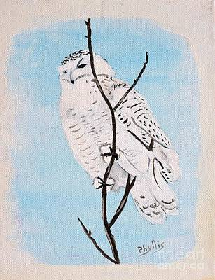 Painting - Snowy Owl Painted By Phyllis by Phyllis Kaltenbach