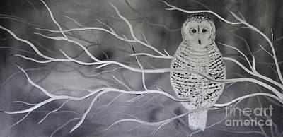 Painting - Snowy Owl by Preethi Mathialagan