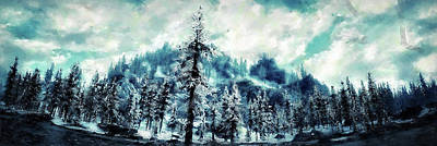 Painting - Snowy Paradise - 01 by Andrea Mazzocchetti