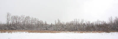 Photograph - Snowy Pasture Panorama by Valerie Kirkwood
