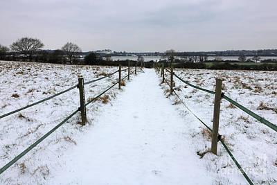 Photograph - Snowy Path Epsom Surrey by Julia Gavin