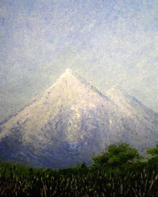 Snowy Peak Art Print by Bill Brown