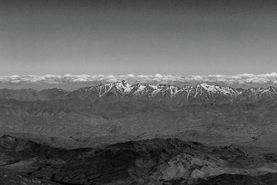 Photograph - Snowy Peaks And Cloud Layer by Steven Green