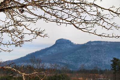 Photograph - Snowy Pilot Mountain by Kathryn Meyer