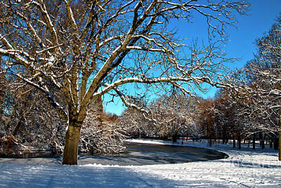 Photograph - Snowy Pond by Baggieoldboy