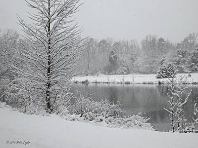 Photograph - Snowy Pond by Matt Taylor