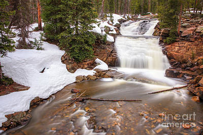 Photograph - Snowy Provo River Falls by Spencer Baugh