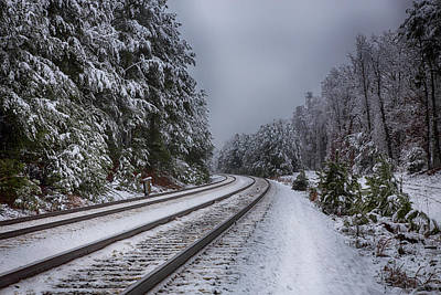 Wall Art - Photograph - Snowy Rails by Cliff Middlebrook