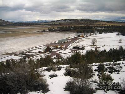 Photograph - Snowy Ranch by James B Toy