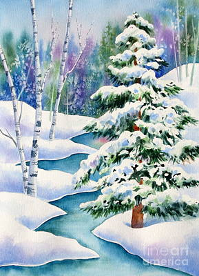 Jewel Toned Painting - Snowy River by Deborah Ronglien
