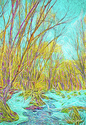Digital Art - Snowy River by Joel Bruce Wallach