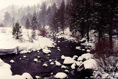 Photograph - Snowy River by Lori Mellen-Pagliaro