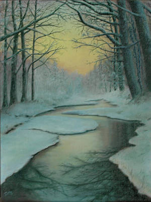 Painting - Snowy River by Rick Fitzsimons