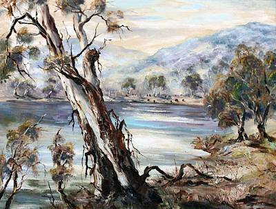 Painting - Snowy River by Ryn Shell