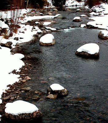 Brown Tones Photograph - Snowy River by The Forests Edge Photography - Diane Sandoval