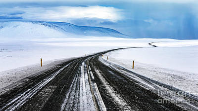 Photograph - Snowy Road by Anna Om