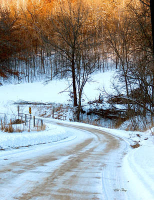 Photograph - Snowy Road by Wild Thing
