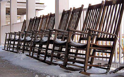 Photograph - Snowy Rockers by Janice Drew