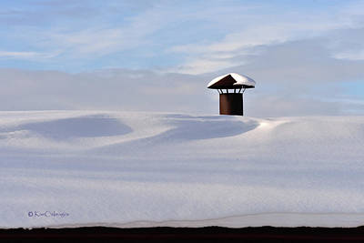 Photograph - Snowy Roof With Stove Pipe by Kae Cheatham