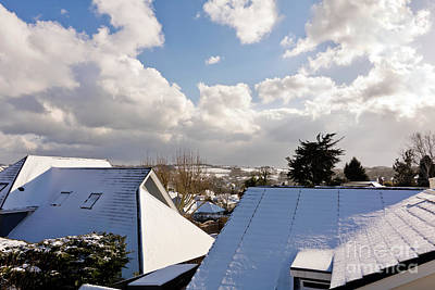 Photograph - Snowy Rooftops by Terri Waters