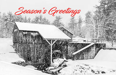 Photograph - Snowy Saw Mill - Season's Greetings by Betty Denise