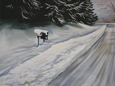 Painting - Snowy Sentinal by Outre Art  Natalie Eisen