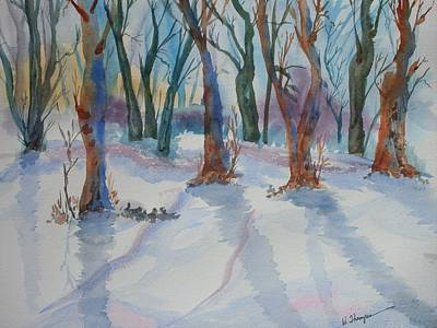 Snowy Shadows Art Print by Warren Thompson