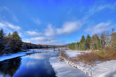 Photograph - Snowy Shore Of The Moose River by David Patterson
