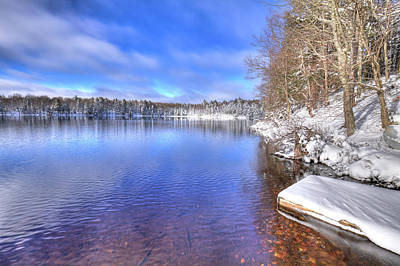 Photograph - Snowy Shore Of West Lake by David Patterson