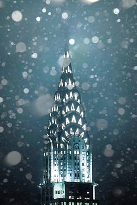 Chrysler Building Photograph - Snowy Spires by Az Jackson